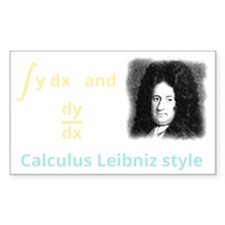 Calculus Leibniz style Decal