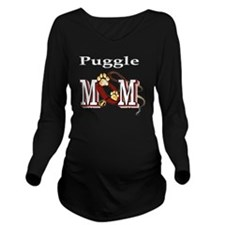 Puggle Mom Long Sleeve Maternity T-Shirt