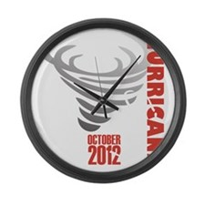 Hurricane Sandy 2012 Large Wall Clock