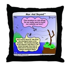 Windy Spider Website Cartoon Throw Pillow
