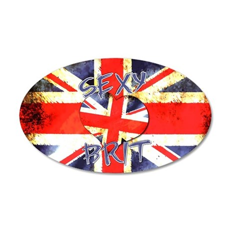 Sexy Brit 3 35x21 Oval Wall Decal