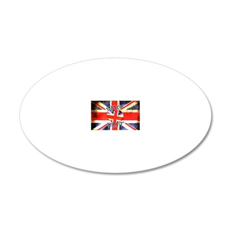 Sexy Brit 3 20x12 Oval Wall Decal