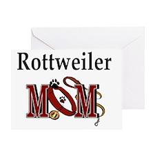Rottweiler Mom Greeting Card