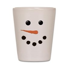 Cute Snowman Face Shot Glass