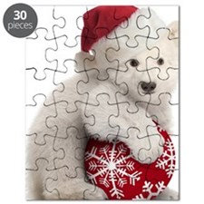 Polar Bear Cub Christmas Puzzle