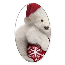 Polar Bear Cub Christmas Decal
