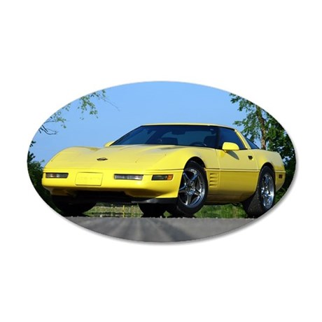 1993 C4 35x21 Oval Wall Decal