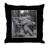 Two Men Throw Pillow