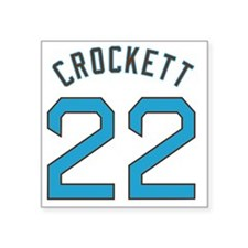 "Jeremy Crockett Square Sticker 3"" x 3"""