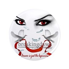 "Twilight saga Breakingdawn Red vampire 3.5"" Button"