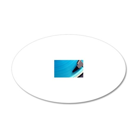 Blue vinyl playing on the tu 20x12 Oval Wall Decal