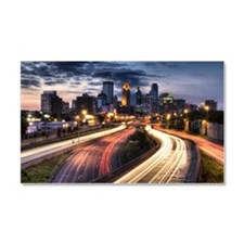 Downtown Minneapolis skyline an Car Magnet 20 x 12