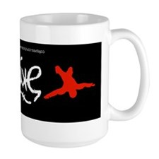 Skydive Ambigram Bumper Sticker Mug