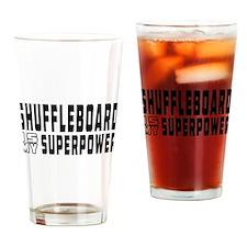 Shuffleboard Is My Superpower Drinking Glass