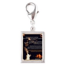 the parricidal effect Silver Portrait Charm