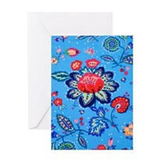 Blue Jacobian Pattern Greeting Card