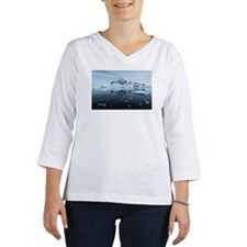 Landscape of Paradise Harbour. Women's Long Sleeve Shirt (3/4 Sleeve)
