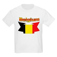 The Belgian flag ribbon Kids T-Shirt