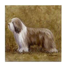 Bearded Collie Tile Coaster