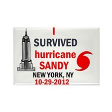 I SURVIVED Hurricane Sandy Rectangle Magnet