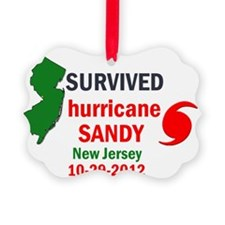 I SURVIVED HURRICANE SANDY NJ Ornament