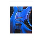 Electric Blue Bass Art Postcards (Package of 8)