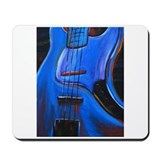 Electric Blue Bass Art Mousepad