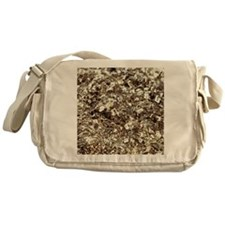Photography of iron pyrite, Stone ma Messenger Bag