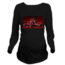 Kid Karts are RED Hot! Long Sleeve Maternity T-Shi