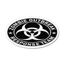 Zombie Response Team Oval Tr Wall Decal Sticker