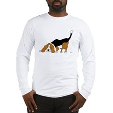 Sniffing Hunting Beagle Long Sleeve T-Shirt