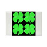 Funny Four leaf clover Rectangle Magnet (10 pack)