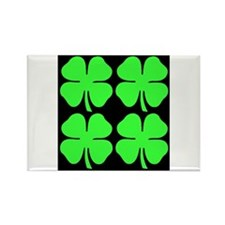 Cute Four leaf clover Rectangle Magnet (10 pack)