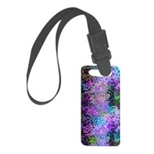 Disco Mirrors in Purple and Gree Luggage Tag
