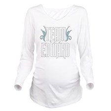 Team Edward Long Sleeve Maternity T-Shirt