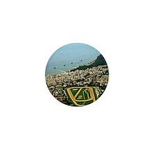 View of Rio de Janeiro from above Mini Button