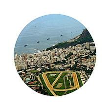"""View of Rio de Janeiro from above 3.5"""" Button"""