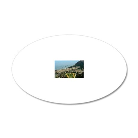 View of Rio de Janeiro from  20x12 Oval Wall Decal