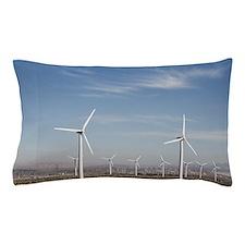 Windmills in the desert making energy  Pillow Case
