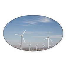 Windmills in the desert making ener Decal