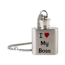 I Love My Boss Flask Necklace