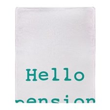 Goodbye tension Throw Blanket