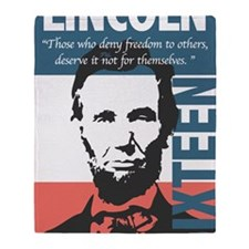 Abraham Lincoln 16th President Throw Blanket