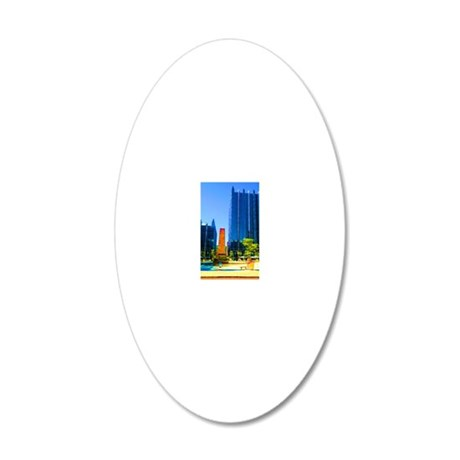 PPG Place in Pittsburgh 20x12 Oval Wall Decal