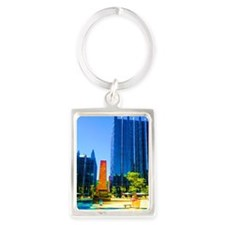 PPG Place in Pittsburgh Portrait Keychain