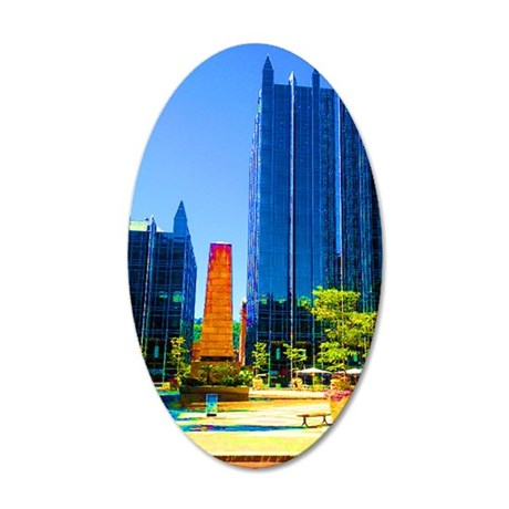 PPG Place in Pittsburgh 35x21 Oval Wall Decal