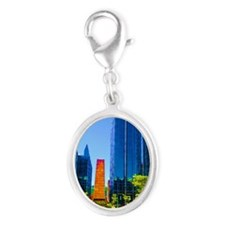 PPG Place in Pittsburgh Silver Oval Charm