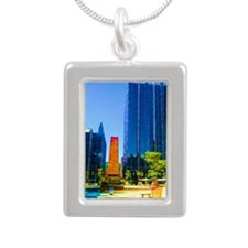 PPG Place in Pittsburgh Silver Portrait Necklace