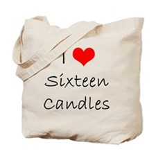 I Love Sixteen Candles Tote Bag
