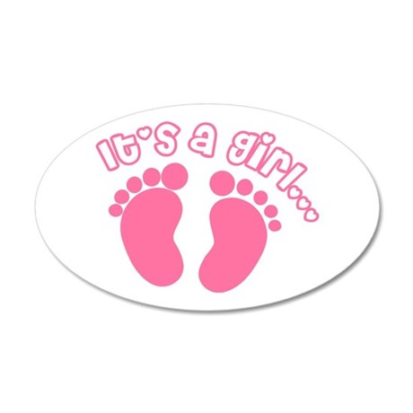 Its a Girl 20x12 Oval Wall Decal